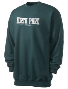 North Park Middle School Lancer Men's 7.8 oz Lightweight Crewneck Sweatshirt