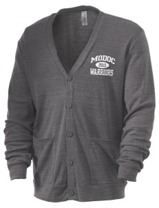 Modoc Middle School Warriors Men's 5.6 oz Triblend Cardigan