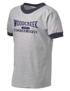 Woodcreek High School Timberwolves Kid's Ringer T-Shirt