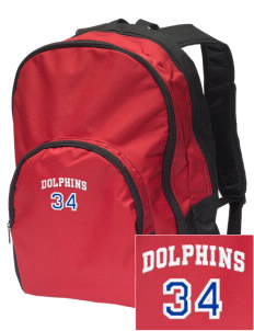 Chavez Elementary School Dolphins Embroidered Value Backpack
