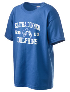 Elitha Donner Elementary School Dolphins Kid's 6.1 oz Ultra Cotton T-Shirt