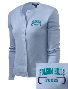 Folsom Hills Elementary School Foxes Embroidered Women's Cardigan Sweater