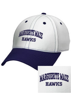 Marguerite Maze Middle School Hawks Embroidered New Era Snapback Performance Mesh Contrast Bill Cap