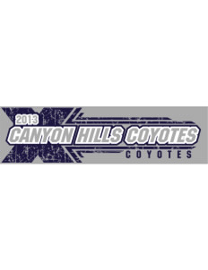 "Canyon Hills Junior High School Coyotes Bumper Sticker 11"" x 3"""