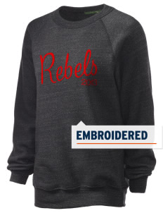 A.B. Miller High School Rebels Embroidered Unisex Alternative Eco-Fleece Raglan Sweatshirt