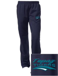 Topaz Elementary School Tigers Embroidered Women's Tricot Track Pants