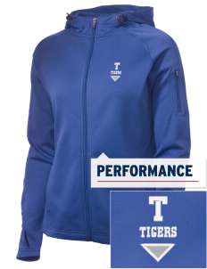 Topaz Elementary School Tigers Embroidered Women's Tech Fleece Full-Zip Hooded Jacket