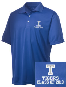 Topaz Elementary School Tigers Embroidered Men's Double Mesh Polo