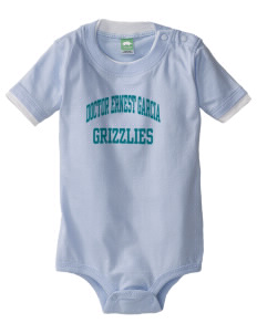 Doctor Ernest Garcia Elementary School Grizzlies Baby One-Piece with Shoulder Snaps