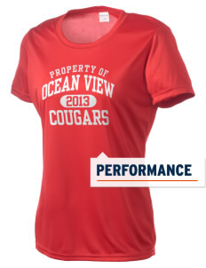 Ocean View Elementary School Cougars Women's Competitor Performance T-Shirt