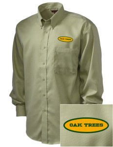 Anderson Partnership Learning Center Oak Trees  Embroidered Men's Nailhead Non-Iron Button-Down