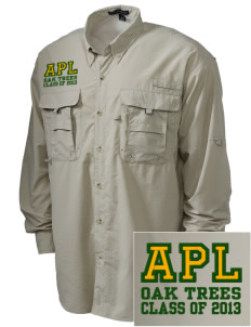 Anderson Partnership Learning Center Oak Trees Embroidered Men's Explorer Shirt with Pockets