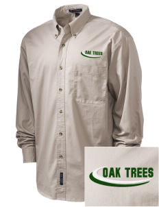 Anderson Partnership Learning Center Oak Trees Embroidered Men's Twill Shirt