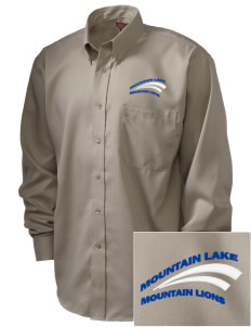 Mountain Lake High School Mountain Lions  Embroidered Men's Nailhead Non-Iron Button-Down