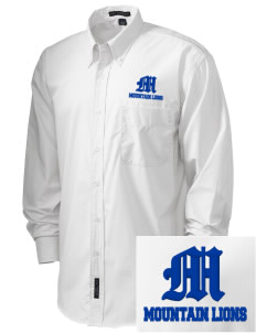 Mountain Lake High School Mountain Lions  Embroidered Men's Easy Care, Soil Resistant Shirt