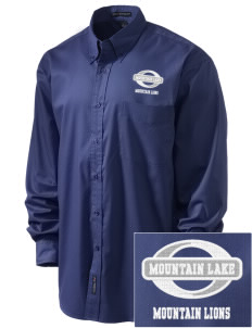 Mountain Lake High School Mountain Lions Embroidered Men's Easy-Care Shirt
