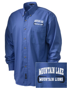 Mountain Lake High School Mountain Lions Embroidered Men's Twill Shirt