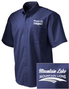Mountain Lake High School Mountain Lions Embroidered Men's Easy Care Shirt
