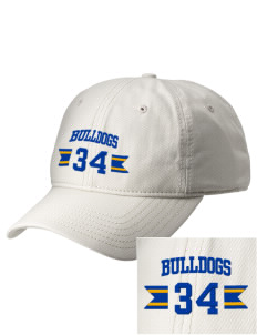 Fall River Senior High School Bulldogs  Embroidered New Era Adjustable Unstructured Cap