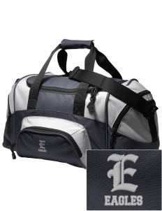 Southeast Webster Middle School Eagles Embroidered Small Colorblock Duffel