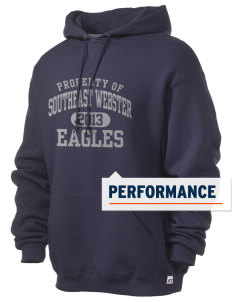 Southeast Webster Middle School Eagles Russell Men's Dri-Power Hooded Sweatshirt