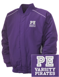 Piper East Elementary School Pirates Embroidered Russell Men's Baseball Jacket