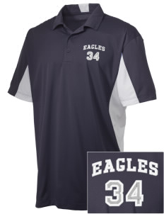 Dr Sally K Ride Elementary School Eagles Embroidered Men's Side Blocked Micro Pique Polo