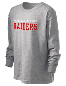 Barnstable HMCS School Raiders Kid's 6.1 oz Long Sleeve Ultra Cotton T-Shirt