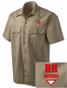 Barnstable HMCS School Raiders Embroidered Dickies Men's Short-Sleeve Workshirt