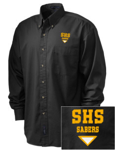 Souhegan High School Sabers Embroidered Tall Men's Twill Shirt