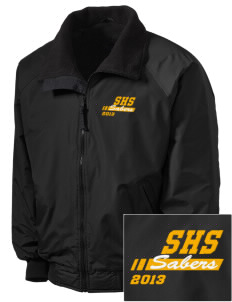 Souhegan High School Sabers Embroidered Tall Men's Challenger Jacket