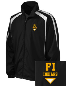 Fort Island Primary School Indians Embroidered Men's Colorblock Raglan Jacket
