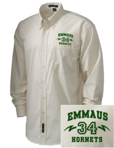 Emmaus High School Hornets  Embroidered Men's Easy Care, Soil Resistant Shirt