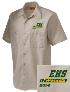 Emmaus High School Hornets Embroidered Men's Cornerstone Industrial Short Sleeve Work Shirt