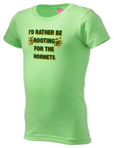 Emmaus High School Hornets  Girl's Fine Jersey Longer Length T-Shirt