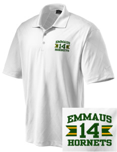 Emmaus High School Hornets Embroidered Nike Golf Men's Dri-FIT Cross-Over Texture Polo