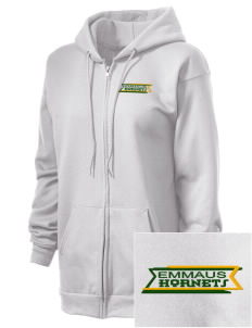 Emmaus High School Hornets Embroidered Unisex Full Zip Hooded Sweatshirt