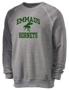 Emmaus High School Hornets Alternative Men's Eco-Fleece Raglan Sweatshirt
