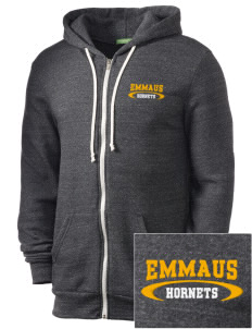Emmaus High School Hornets Embroidered Alternative Men's Rocky Zip Hooded Sweatshirt