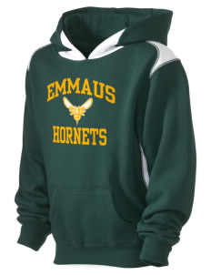 Emmaus High School Hornets Kid's Pullover Hooded Sweatshirt with Contrast Color
