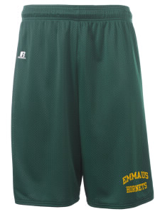 "Emmaus High School Hornets  Russell Men's Deluxe Mesh Shorts, 10"" Inseam"