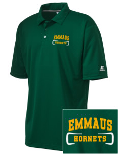 Emmaus High School Hornets Embroidered Men's Russell Coaches Core Polo Shirt