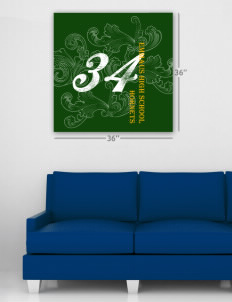 "Emmaus High School Hornets Wall Poster Decal 36"" x 36"""
