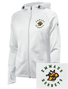 Emmaus High School Hornets Embroidered Women's Tech Fleece Full-Zip Hooded Jacket