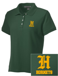 Emmaus High School Hornets Embroidered Women's Performance Plus Pique Polo
