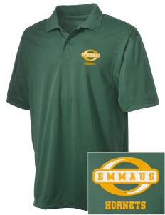 Emmaus High School Hornets Embroidered Men's Micro Pique Polo
