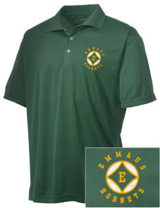 Emmaus High School Hornets Embroidered Men's Double Mesh Polo