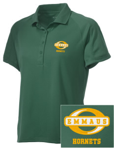 Emmaus High School Hornets Embroidered Women's Polytech Mesh Insert Polo