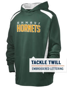 Emmaus High School Hornets Holloway Men's Hype Performance Hooded Sweatshirt with Tackle Twill