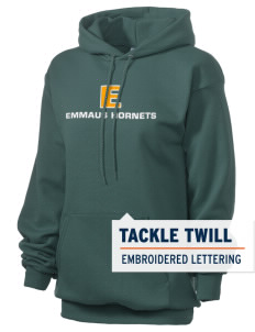 Emmaus High School Hornets Embroidered Unisex 7.8 oz Lightweight Hooded Sweatshirt with Tackle Twill